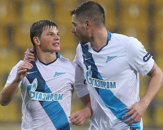 """Футболисты """"Зенита"""" Андрей Аршавин и Хави Гарсия"""