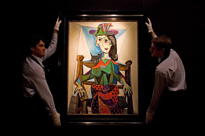 """В 2006 года грузинский политический деятель, предприниматель и филантроп Бидзина Иванишвили приобрел в Нью-Йорке за $95,2 млн """"Портрет Доры Маар с кошкой"""" Пабло Пикассо, написанный в 1941 году"""