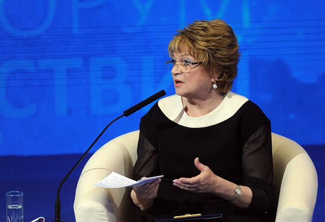 Сопредседатель Московского регионального отделения Общероссийского народного фронта на конференции ОНФ, 2013 год
