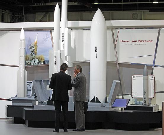Стенд французской компании MBDA, разработчика и производителя ракетных систем