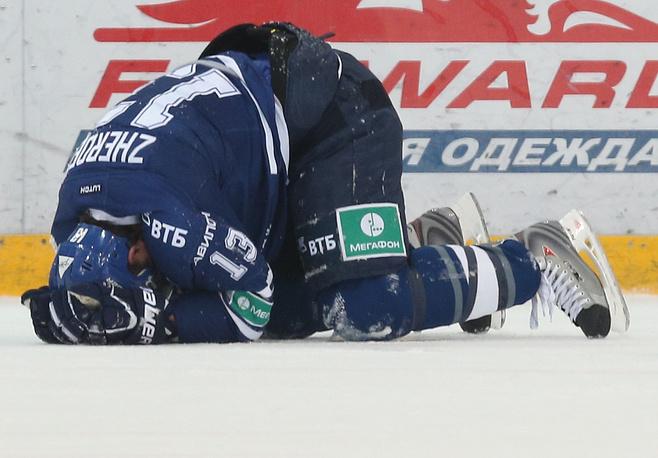 Николай Жердев получил небольшое повреждение