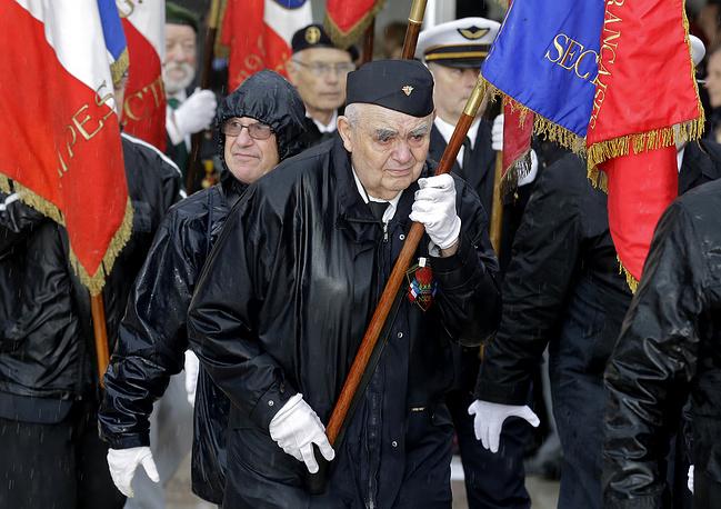 Ветераны во время торжеств в годовщину подписания перемирия. Ницца, 11 ноября 2014 года