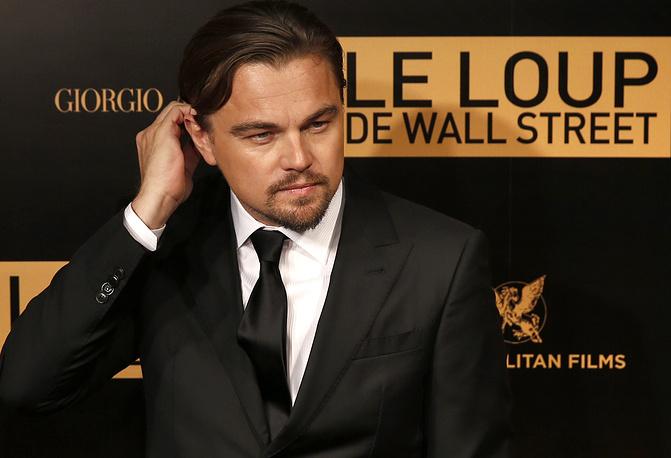 """Леонардо Ди Каприо на премьере фильма """"Волк с Уолл-стрит"""" в Париже, 2013 год"""