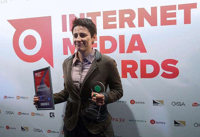 Режиссер Елена Погребижская, ставшая лауреатом премии имени Сноудена в сфере интернет-медиа