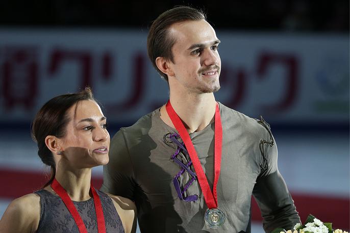 Единственное золото сборной России на этапе Гран-при в Москве завоевали Ксения Столбова и Федор Климов