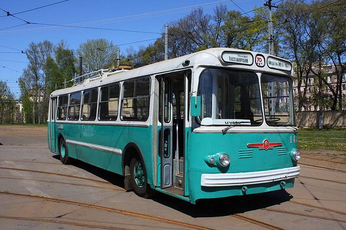 Троллейбус ЗиУ-5Г 1967 года постройки. Производство завода им. Урицкого (ЗиУ), город Энгельс Саратовской области