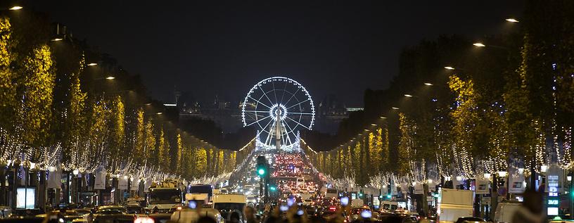 Рождественская иллюминация в Париже, 20 ноября