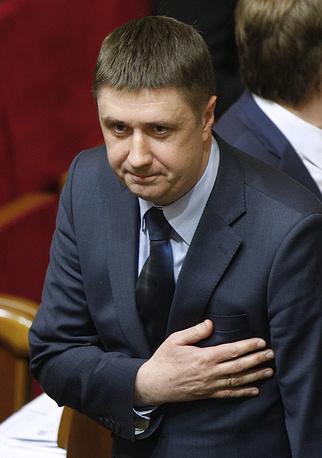 Министр культуры, вице-премьер по гуманитарным вопросам Украины Вячеслав Кириленко на заседании Верховной рады