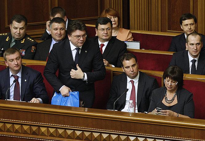 Новые министры правительства Украины после утверждения Верховной радой 2 декабря 2014 года