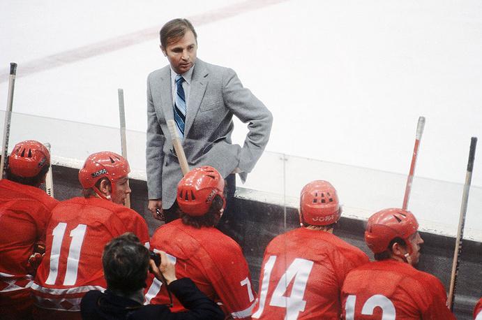 Виктор Тихонов - тренер сборной СССР по хоккею. 1979 год