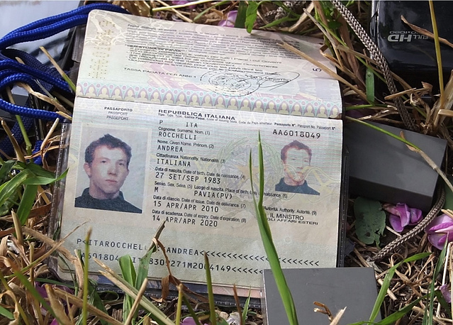 Документы итальянского журналиста Андреа Рочелли и его переводчика Андрея Миронова, убитых под Славянском