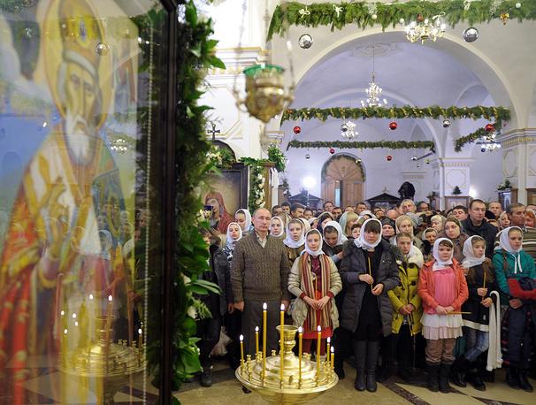 Владимир Путин в селе Отрадное Воронежской области, Россия