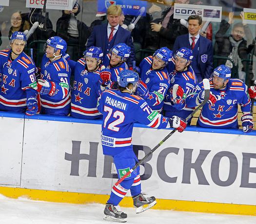 Хоккеисты СКА во второй раз в сезоне обыграли ЦСКА