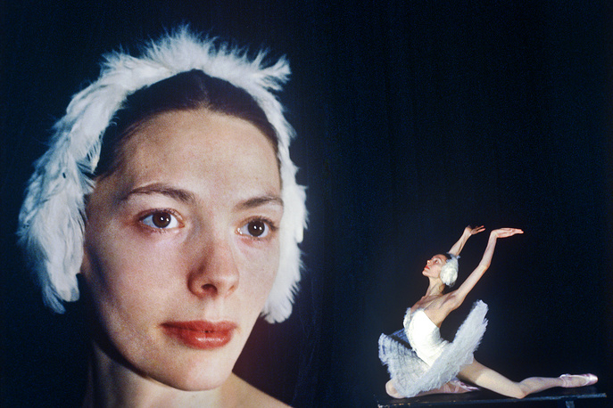 Балерина Галина Мезенцева (Одетта), 1980 г
