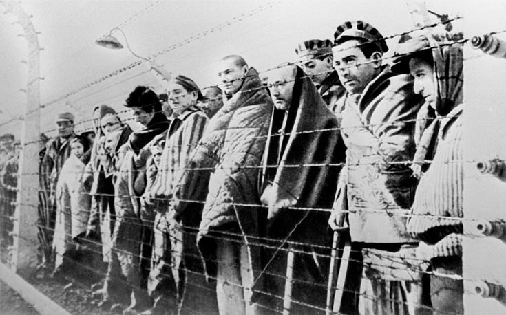Уцелевшие узники гитлеровского концлагеря Освенцим
