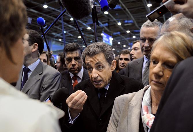 Николя Саркози на Международной сельскохозяйственной выставке в выставочном центре Порт-де-Версаль в Париже, 2012 год