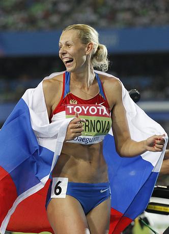 Семиборка Татьяна Чернова наказана за нарушение антидопинговых правил, выразившееся в наличие анаболического стероида оралтуринабол