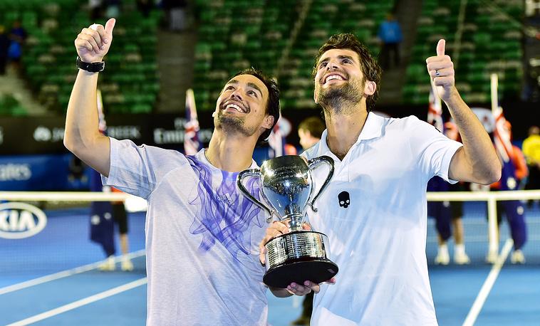 Итальянцы Фабио Фоньини и Симоне Болелли первенствовали в мужском парном турнире