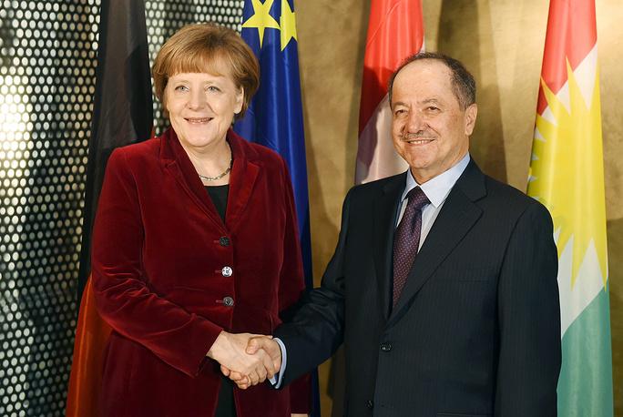 Канцлер Германии Ангела Меркель и президент Курдистана  Масуд Барзани