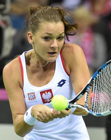 Польская  теннисистка Агнешка Радванска