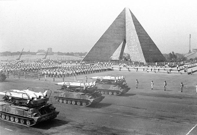 """ЗРК """"Куб"""" на параде в Египте по случаю третьей годовщины арабо-израильской войны 1973 года"""