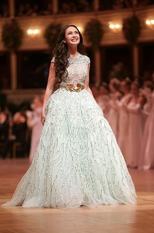 Российская оперная певица Аида Гарифуллина на церемонии открытия Оперного бала