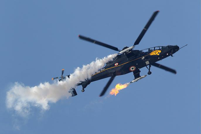 Индийский ударный вертолет HAL LCH разработки Hindustan Aeronautics Limited