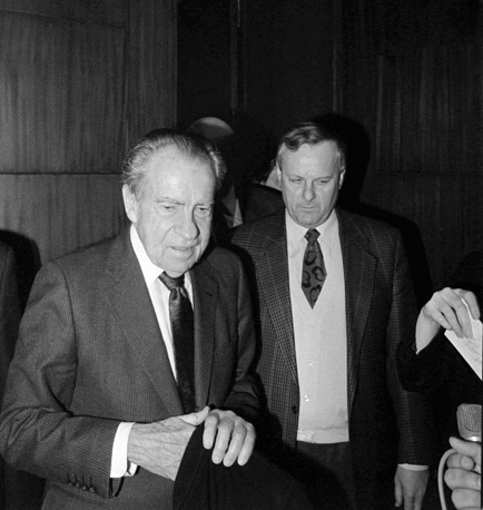 Экс-президент США Ричард Никсон и мэр Санкт-Петербурга Анатолий Собчак, 1993 год
