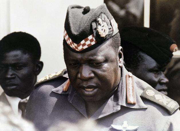 """11 апреля 1979 года из Уганды бежал Иди Амин, президент страны с 1971 года, объявивший себя пожизненным главой государства в 1976 году. Он установил в стране режим жестокой военной диктатуры, жертвами которой стали 300-500 тыс. человек. В октябре 1978 года Иди Амин начал военные действия против соседней Танзании. Когда отряды танзанийской армии и угандийского """"Фронта национального освобождения"""" взяли столицу Уганды Кампалу, он перебрался в Ливию, а в декабре того же года - в Саудовскую Аравию, где получил от короля Халида убежище и пенсию. Умер 16 апреля 2003 года в Джидде"""