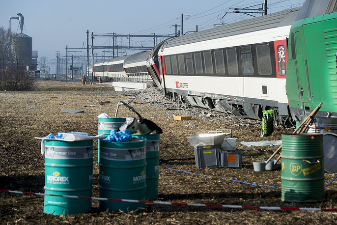 Движение поездов на линии Бюллах - Шаффхаузен прервано