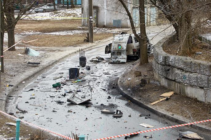 """6 марта в Харькове в результате взрыва были ранены командир украинского спецбатальона """"Слобожанщина"""" Андрей Янголенко и его жена Инна. Взрывное устройство находилось в автомобиле и сработало во время движения"""