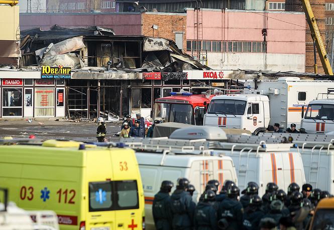 По данным МЧС, в торговом комплексе полностью отсутствовали системы пожаротушения и дымоудаления