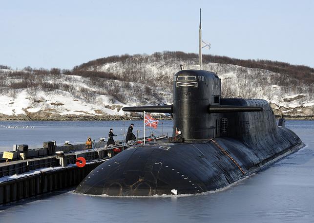 """РПКСН К-84 """"Екатеринбург"""". Он несет 16 баллистических ракет Р-29РМ с разделяющейся головной частью"""