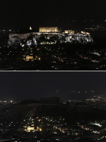 Вид на Акрополис в Афинах, Греция