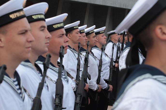 Принятие военной присяги новобранцев Черноморского флота, Севастополь