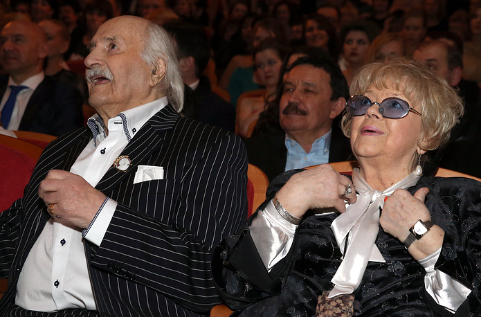 Владимир Зельдин с супругой Иветтой Капраловой