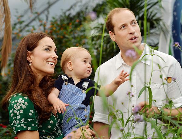 22 июля 2014 года принц Джордж отметил свой первый день рождения. В твиттере королевского семейства появились первые официальные фотоснимки первенца герцога и герцогини Кембриджских, которые были сделаны в начале лета на выставке бабочек в лондонском Музее естественной истории (на фото)
