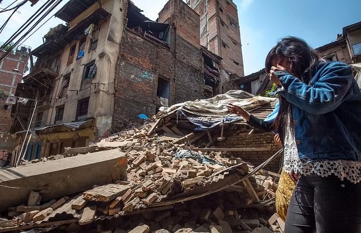 Исторический центр Катманду. На подходе к дворцовой площади Дурбар