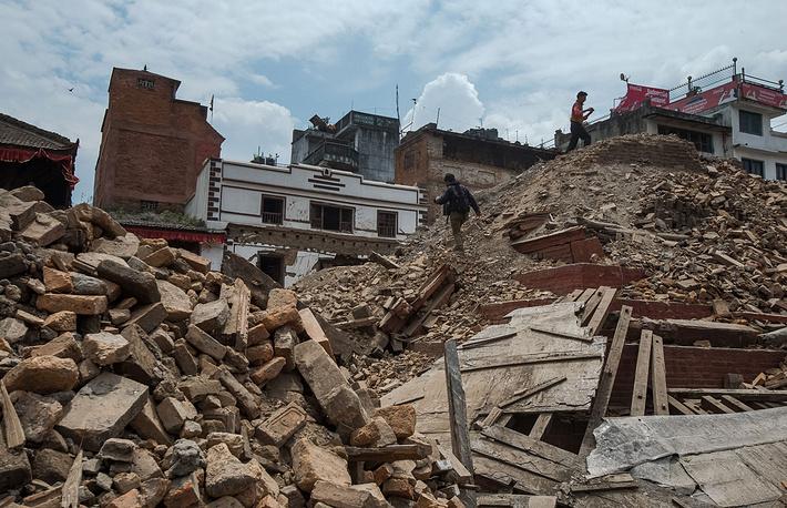 Развалины храма на площади Дурбар в центре Катманду