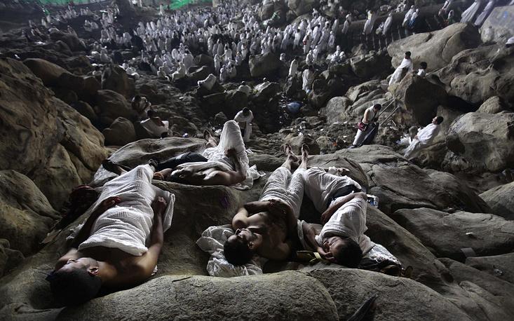Ежегодный мусульманский хадж. Одиночное фото