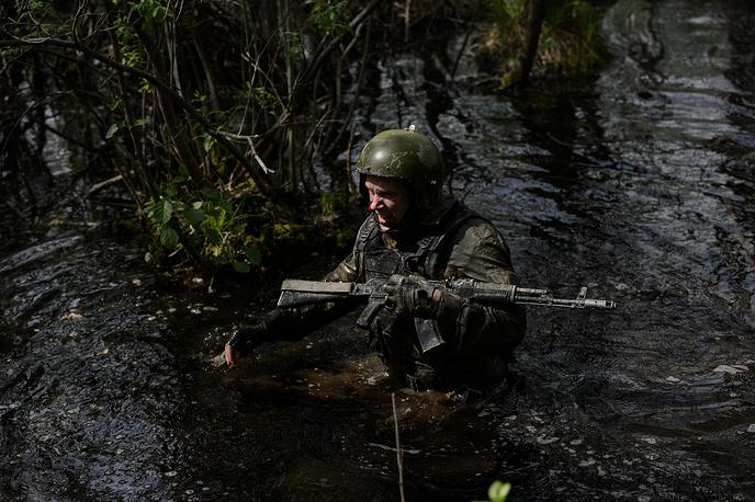 Пересечение болотистой местности
