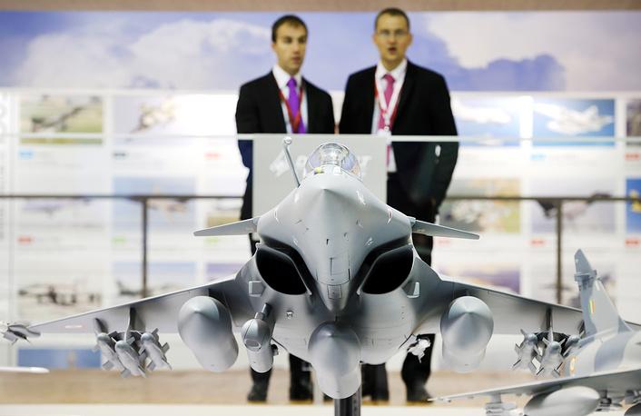 Макет самолета Dassault Rafale