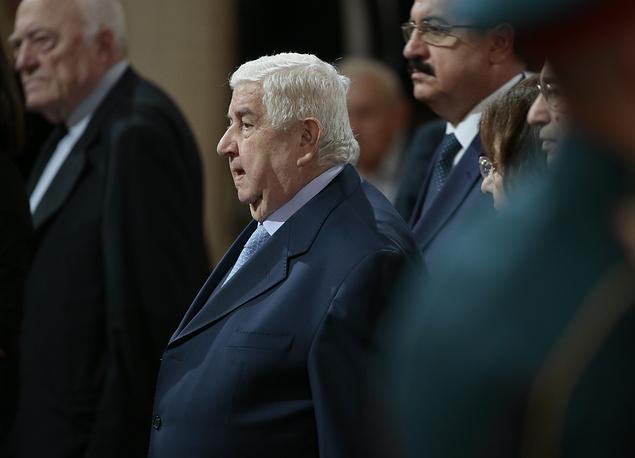 Глава МИД Сирии Валид Муаллем (в центре)