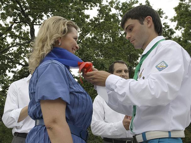 "Супруга президента РФ Светлана Медведева посетила лагерь ""Орленок"", 2009 год"