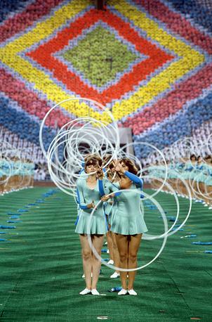 На Играх в Москве было установлено 36 мировых рекордов, 39 европейских и 74 олимпийских. На фото: закрытие Олимпиады-80