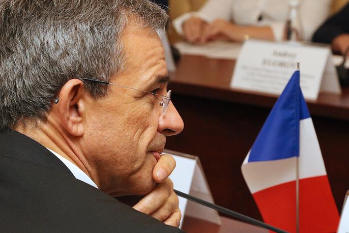 Тьерри Мариани во время встречи с руководством Крыма в Совете министров республики
