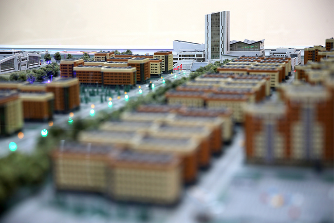 Макет зданий деревни атлетов