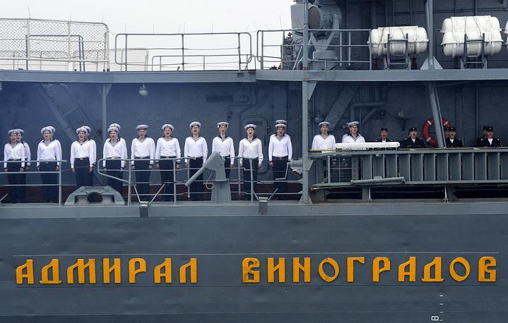 """Моряки на большом противолодочном корабле """"Адмирал Виноградов"""""""