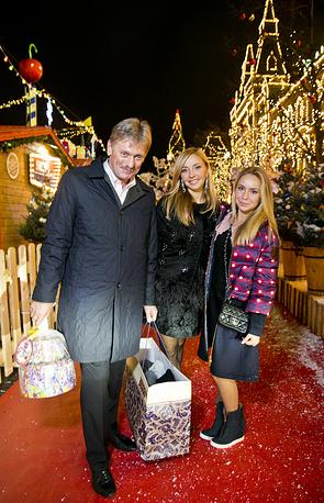 Дмитрий Песков и Татьяна Навка с дочерью Александрой