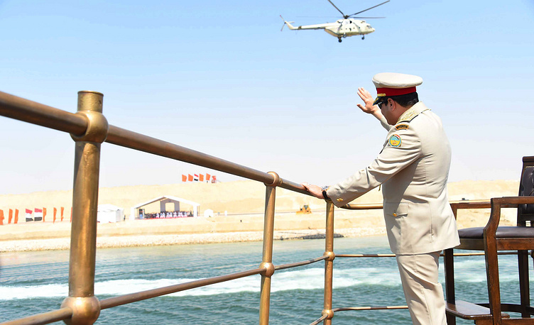 """Президент Египта Абдель Фаттах ас-Сиси на яхте """"Аль-Махруса"""""""